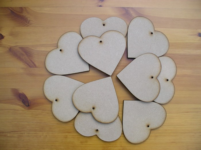 Hearts 100mm x10 (H7)