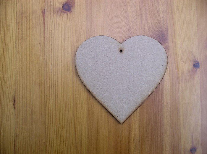 (H3) Heart 130mm Wide 6 mm Thick