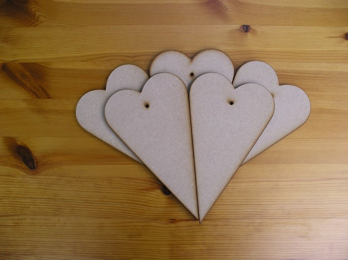 Large hearts x5 (H11)