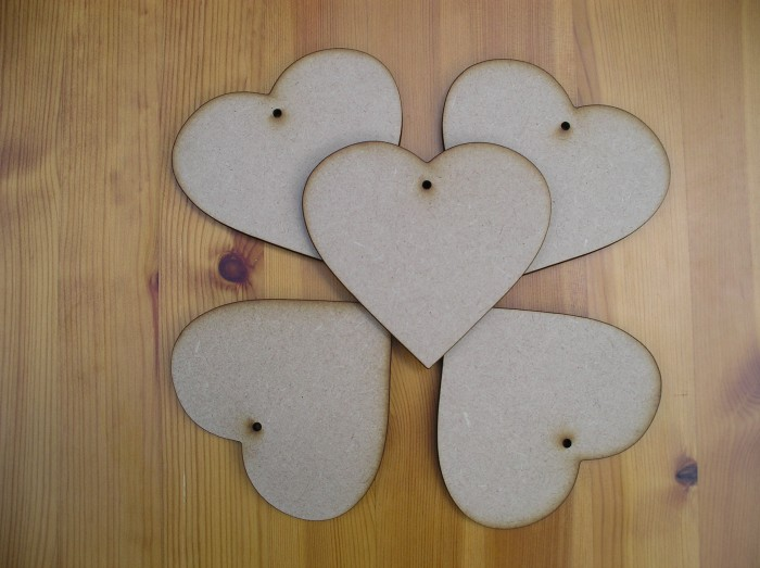 Hearts 100mm x5 (H6)