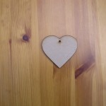 (H1) Heart 75mm wide x 6 mm Thick