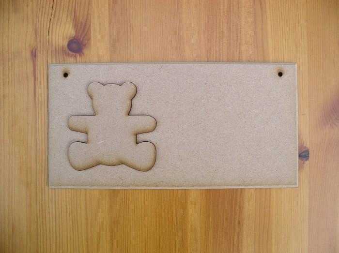 (P4) Teddy Bear Plaque