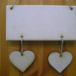 (HP2) Hanging Heart 2 Plaque