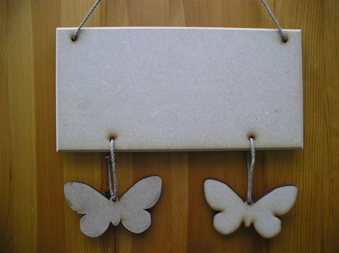 (HP1) Hanging 2 Butterfly Plaque