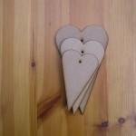 (H9) Set of 3 Hearts