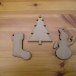 Set of 3 - Stocking, Tree, Snowman (C8)