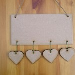 (HP7) Hanging 4 Hearts Plaque
