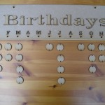 (HP16) Birthdays plaque with month letters