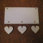 (HP6) Hanging 3 Hearts Plaque