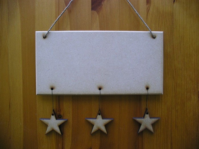(HP14) Hanging 3 Stars Plaque