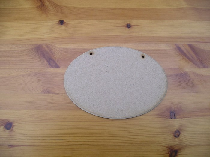 (G7) Oval Plaque 180 mm x 125 mm