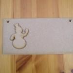 (C13) Snowman Plaque