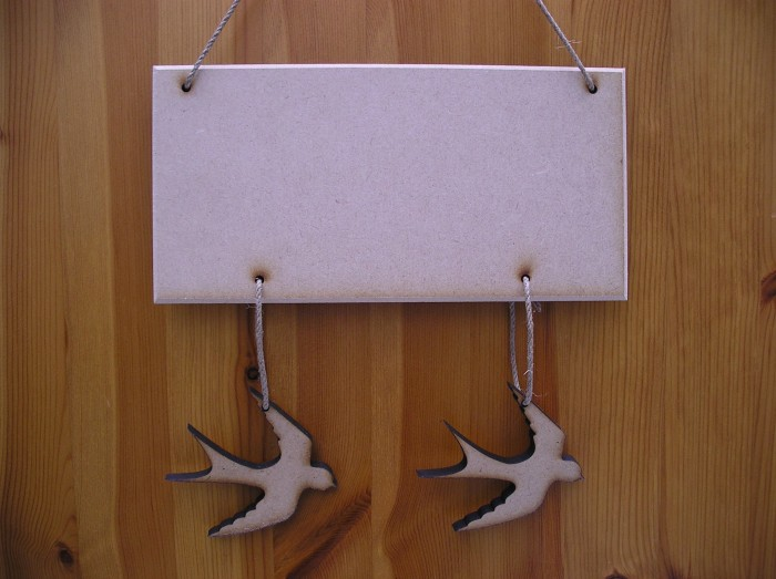 (HP4) Hanging 2 Swallows Plaque