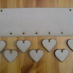 (HP10) Hanging 7 Heart Plaque