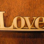 (SN3) Free Standing Love Sign