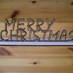 Free Standing Merry Christmas Sign