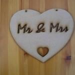 Mr & Mrs Heart Plaque,