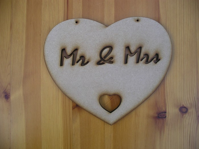 Mr & Mrs Heart Plaque,