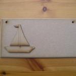 (P25) Sail Boat Plaque
