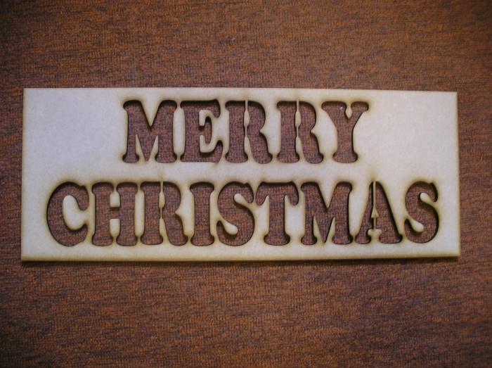 Merry Christmas Stencil
