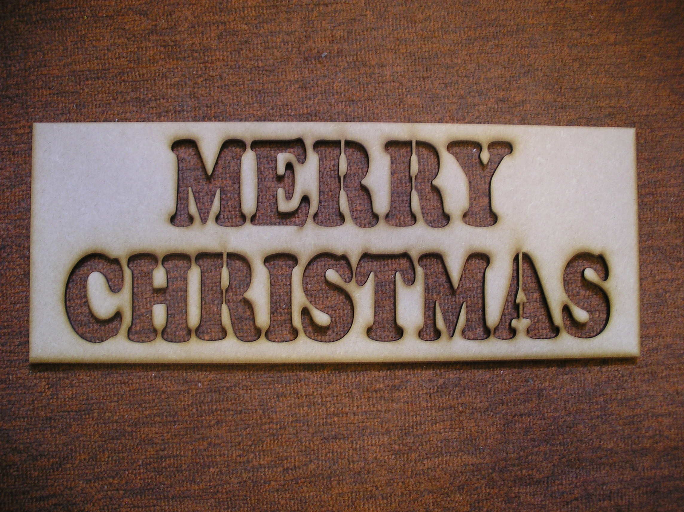 Merry christmas stencil the craft shape shop for Merry christmas letter stencils
