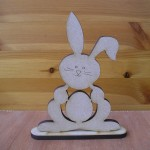 (E4) Bunny with Egg Cut Out
