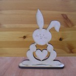 (E5) Bunny with Heart Cut Out
