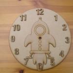Rocket Clock Face