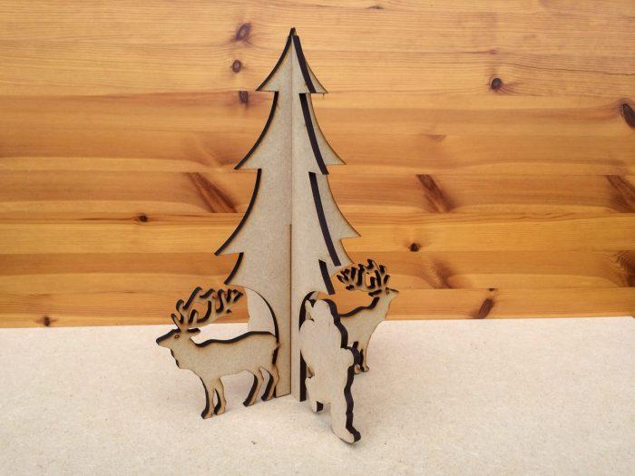 Santa & Reindeer Tree