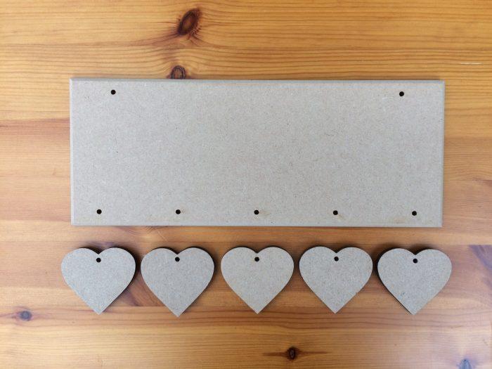 (HP8) 5 Hanging Heart Plaque